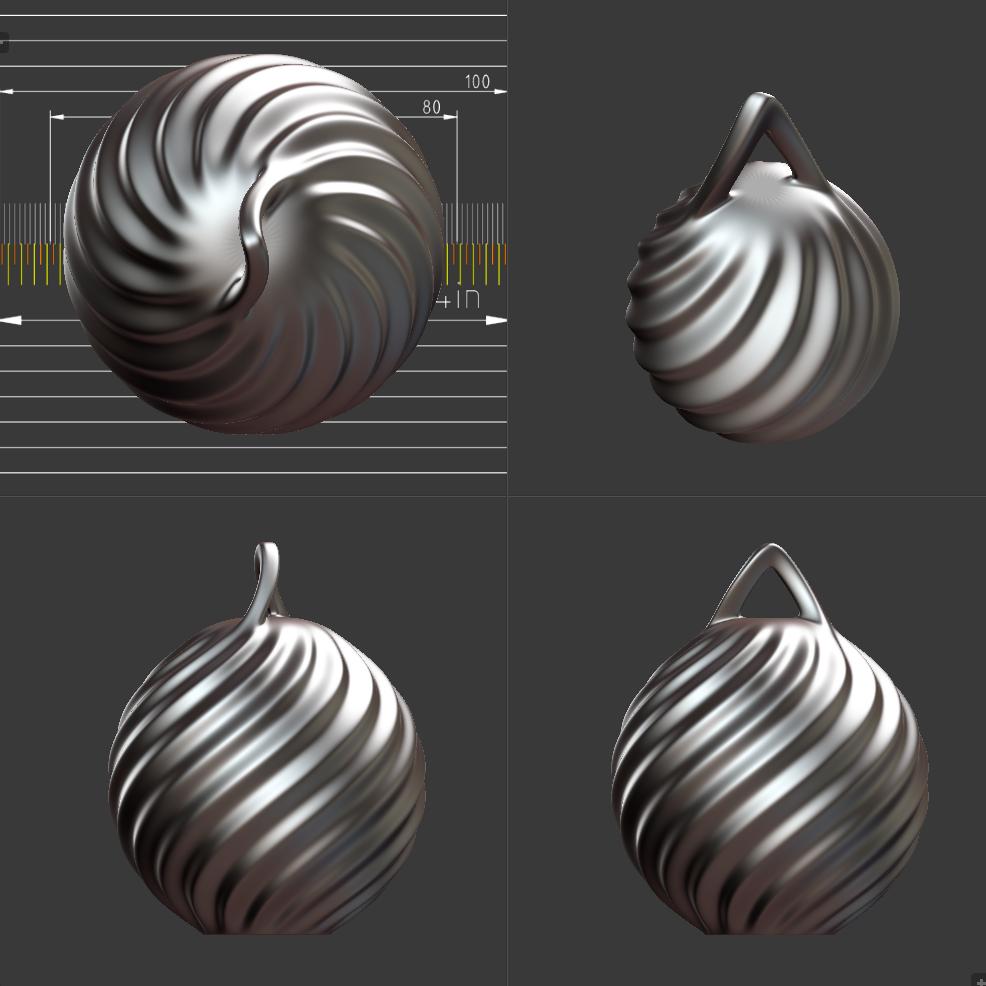 Hero-Copy.PNG Télécharger fichier STL gratuit Boule de Noël - personnalisez et imprimez la vôtre • Objet pour impression 3D, Valdis