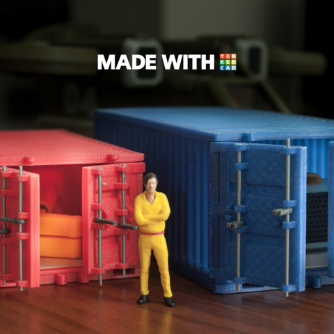 Download free STL file Cargo Container (Large) • Object to 3D print, YuriySklyar