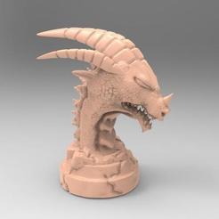 Dragon statue 1.1.jpg Télécharger fichier STL gratuit Statue du dragon 1 • Plan à imprimer en 3D, Majs84
