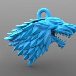 Got keychain .1.jpg Download STL file Game of thrones Stark keychain • 3D printer template, Majs84