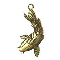 Koi fish pendant .1.jpg Download STL file Koi fish pendant • 3D printing design, Majs84