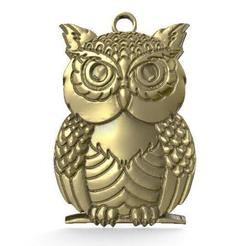 Owl pendanr 4.1.jpg Download STL file Owl pendant 4 • 3D printable design, Majs84