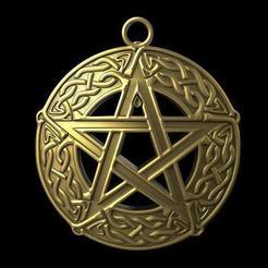 Celtic pentagram .1.jpg Télécharger fichier STL Pentagramme celtique • Objet pour imprimante 3D, Majs84