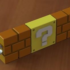 Super mario block question keychain.JPG Download STL file Super mario block question keychain • 3D printer design, Majs84