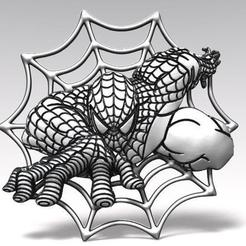 Spiderman bas-relief fr 2.0.jpg Download STL file Spiderman bas-relief 2 CNC • 3D print object, Majs84