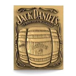 Jack Daniels 1.1.jpg Download STL file Jack daniels bas-relief cnc • 3D printable model, Majs84