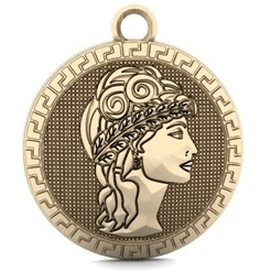 Woman in ancient rome pendant 1.1.jpg Download STL file Woman in ancient Rome • 3D printer design, Majs84