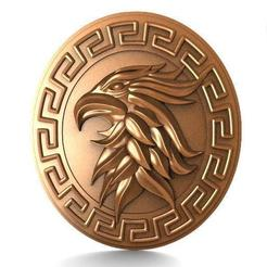 Eagle bas-relief 3.1.jpg Download STL file Eagle bas-relief 3 • Object to 3D print, Majs84