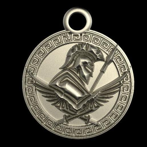 Imprimir en 3D Ancient greek pendant, Majs84