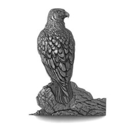 Falcon .1.jpg Download STL file Falcon bas-relief CNC • 3D printing object, Majs84