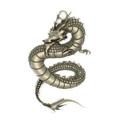Chinese dragon pendant .0.jpg Download STL file Chinese dragon pendant 1 • Design to 3D print, Majs84