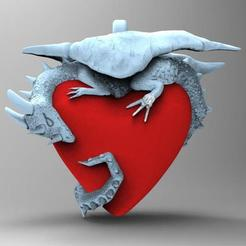 3D printer models Dragon heart, Majs84