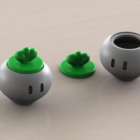 Download STL file Vegetable Super Mario Bros 2 • 3D printer design, Majs84