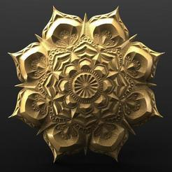 Télécharger fichier 3D Mandala de fleurs 2, Majs84