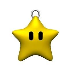 Super mario star keychain.jpg Download STL file Star super mario keychain • 3D print design, Majs84