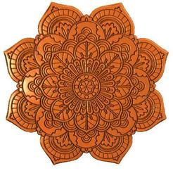Flower mandala bas-relief 1.1.jpg Download STL file Flower mandala bas-relief • 3D printer template, Majs84