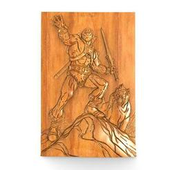 He-man bas-relief 1.1.jpg Download STL file He-man bas-relief • 3D printing template, Majs84