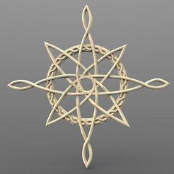 Celtic North star .1.jpg Download STL file Celtic north star CNC • 3D printer model, Majs84