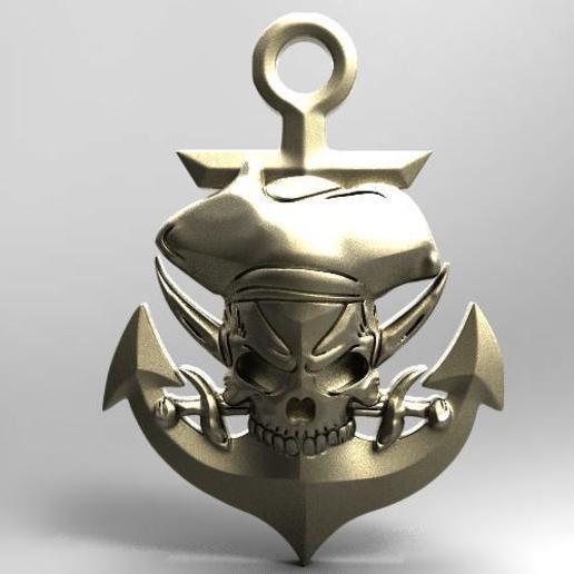 Imprimir en 3D Skull pirate 2, Majs84