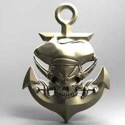 Skull pirate 2.1.jpg Download STL file Skull pirate 2 • 3D printing model, Majs84