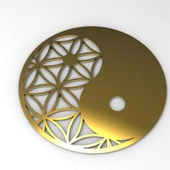 Yin Yang .1.jpg Download STL file Yin Yang sacred • 3D printable template, Majs84