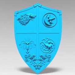 Download STL file Game of thrones shield, Majs84