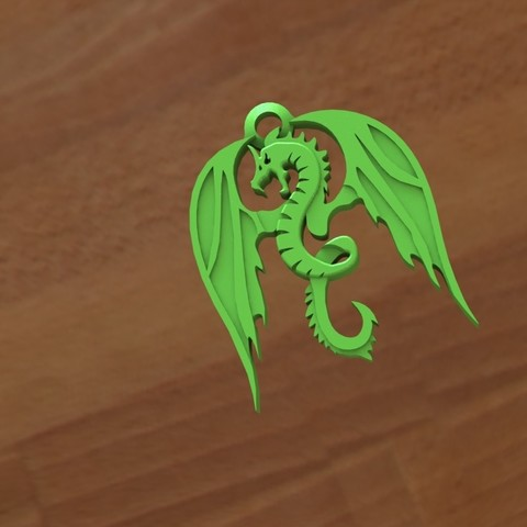 Download STL file Dragon keychain • Object to 3D print, Majs84