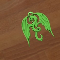 Archivo 3D Dragon keychain, Majs84