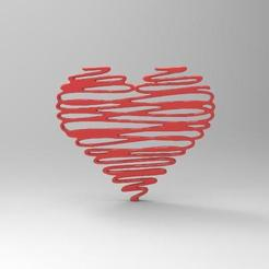 STL file Heart Decor, Majs84