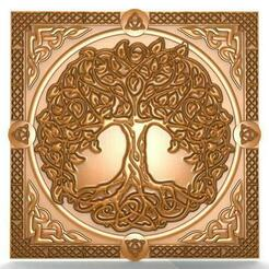 Celtic tree of life CNC .1.jpg Download STL file Celtic tree of life CNC • 3D printing object, Majs84