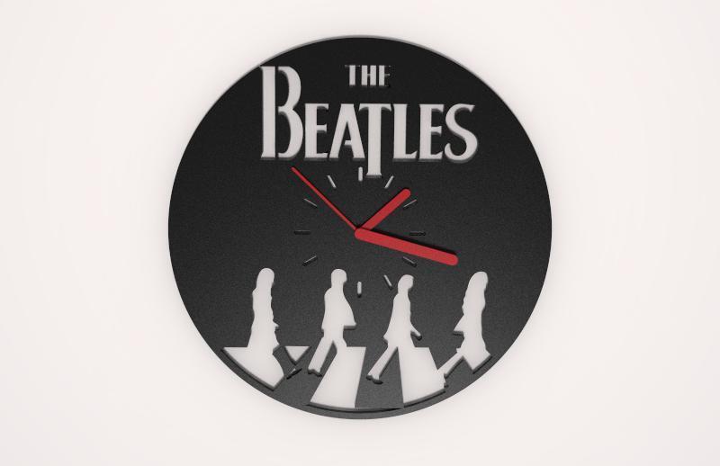 The beatles wallclock.1.JPG Download STL file The Beatles Wall clock • 3D printable template, Majs84
