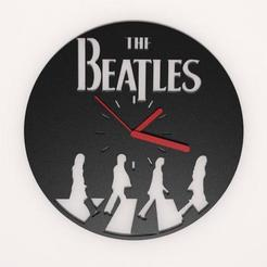 3D print model The Beatles Wall clock, Majs84