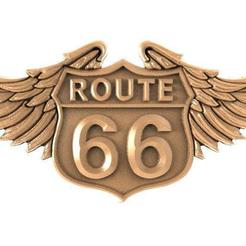 Download 3D printer designs Route 66 bas-relief cnc, Majs84