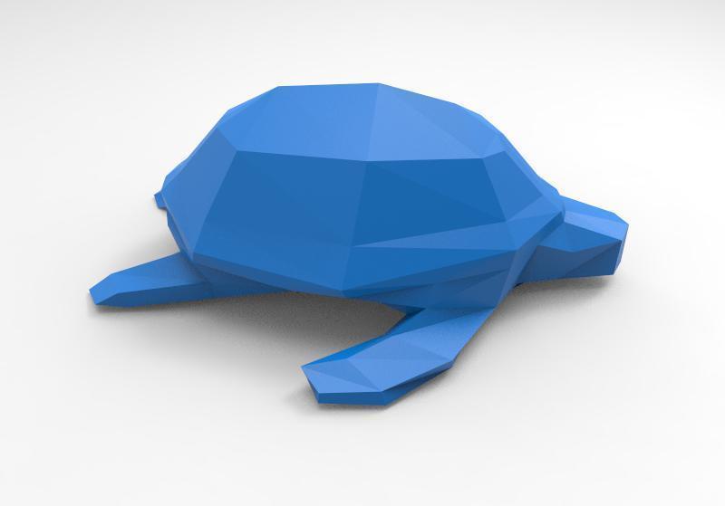 Turtle 2.2 lowpoly.jpg Download STL file Low-poly turtle • 3D printing design, Majs84