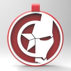 Télécharger modèle 3D Porte-clés Iron man captain america, Majs84