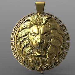 Download 3D printer model Lion pendant 2, Majs84