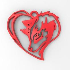 Download 3D model Wolf Heart pendant , Majs84