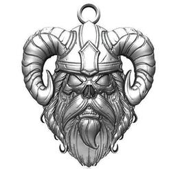 Viking pendant 14.1.jpg Download STL file Viking skull pendant 14 • Template to 3D print, Majs84