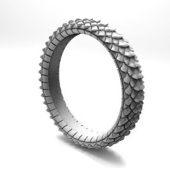 Dragon scale ring .1.jpg Download STL file Dragon scale ring • Object to 3D print, Majs84