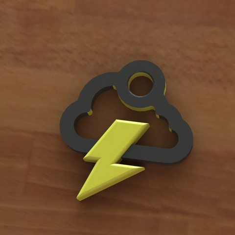 Storm cloud earring 1.2.JPG Download free STL file Storm cloud earring • 3D printer object, Majs84