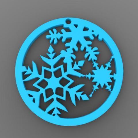 Xmas snowflake.jpg Download STL file Christmas snowflake • Model to 3D print, Majs84