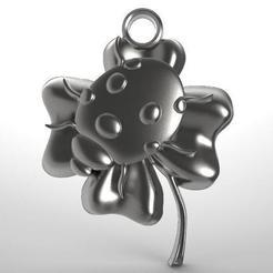 Descargar archivos 3D Clover ladybug pendant, Majs84