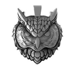 Owl head pendant 2.1.jpg Download STL file Owl head pendant 2 • 3D print model, Majs84