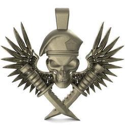 Descargar archivo 3D soldier skull pendant, Majs84