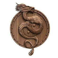 Yin yang dragon CNC .1.jpg Télécharger fichier STL Yin Yang Dragon CNC • Objet imprimable en 3D, Majs84