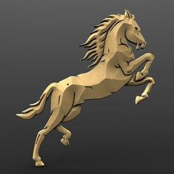 Horse bas-rlief 1.1.jpg Download STL file Horse bas relief • 3D printable object, Majs84