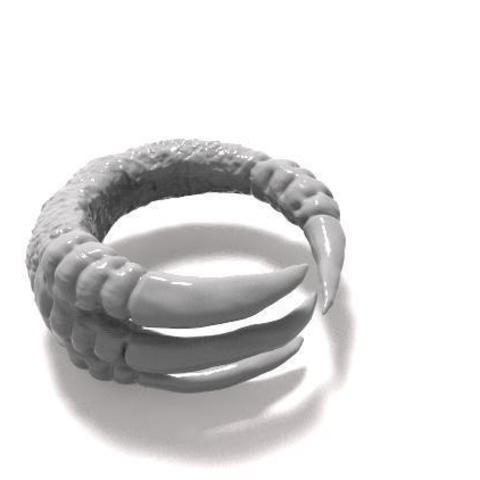 Claw ring.jpg Download STL file Claw ring • 3D print object, Majs84