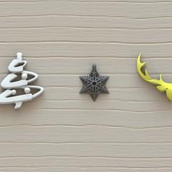 Objet 3D pendentif de Noël, Majs84