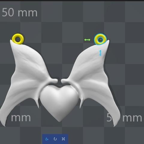 Heart with butterfly pendant 1.2.jpg Download STL file Heart with butterfly pendant • Object to 3D print, Majs84