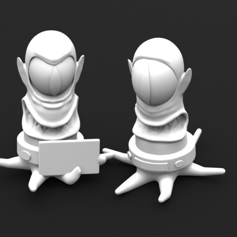 Download 3D printing models Kang and Kodos, Majs84